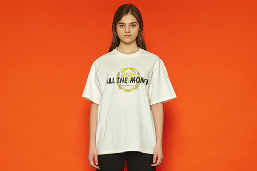 [unisex] Allthemoney Short T (white)