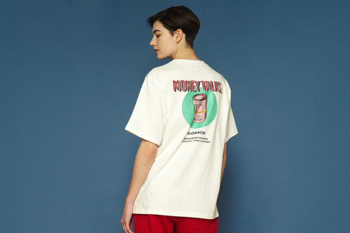 [unisex] Moneystack Short T (white)