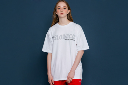 [unisex] Dot Logo Short-T (white)