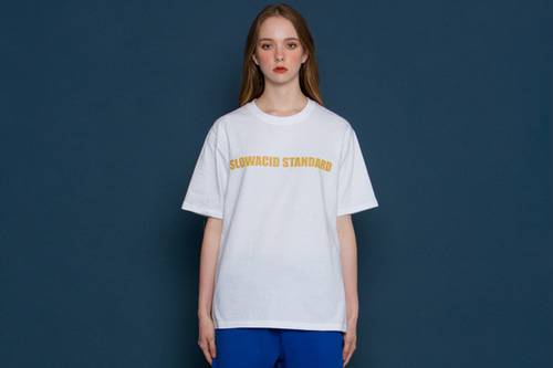 [unisex] Standard Logo Short-T (white/yellow)