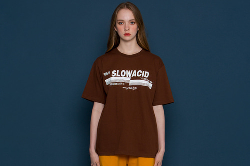 [unisex] pH5.5 Logo Short-T (brown)