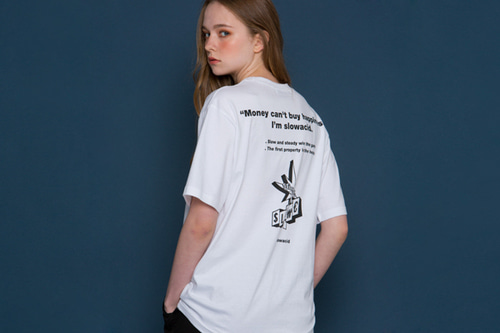 [unisex] Quotes Logo Short-T (white)