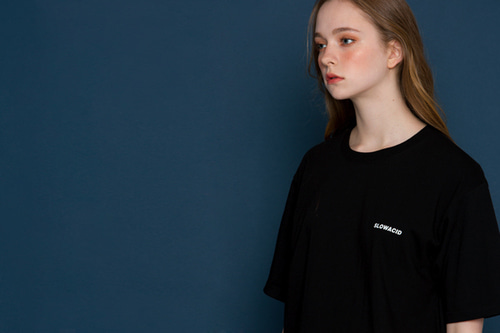 [unisex] Small Logo Short-T (black)