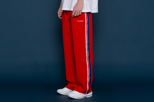 [unisex] Sideline Wide Pants (red)