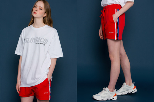 [unisex] Sideline Short Pants (red)