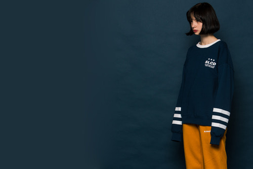 3LINE  Sweatshirt (BLUE)