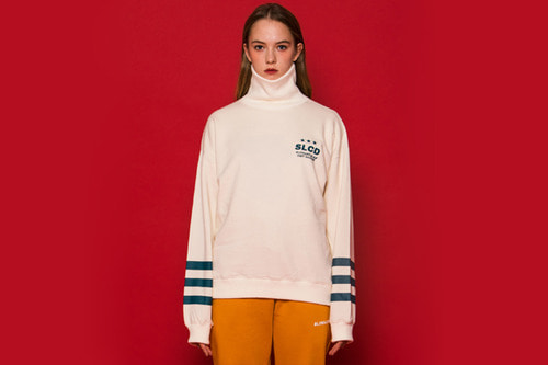 3LINE Turtleneck Sweatshirt (IVORY)