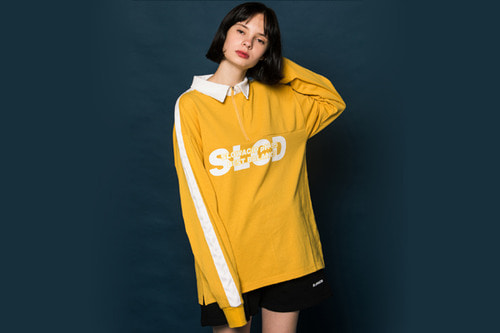 Collar Half Zipup Long-T (YELLOW)
