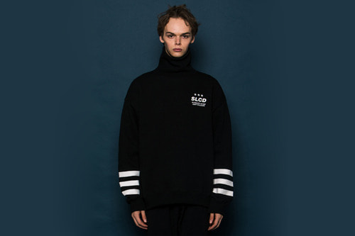 3LINE Turtleneck Sweatshirt (BLACK)