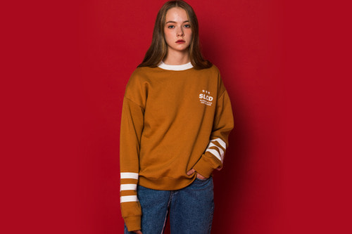 3LINE  Sweatshirt (BROWN)