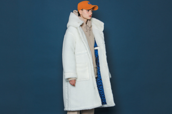 [Sold out]Boa Fleece Long Parka (IVORY)
