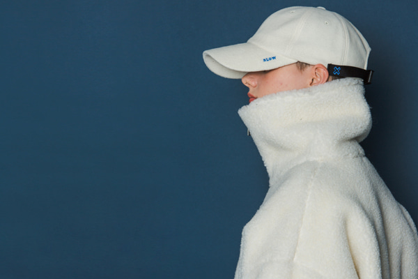 [Sold out]X Buckle Cap (FLEECE_IVORY)