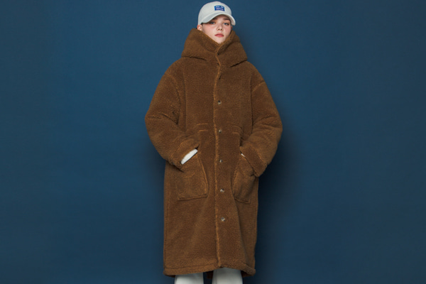 [Sold out]Boa Fleece Long Parka (CAMEL)