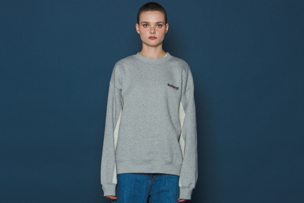Two-tone Sleeve Sweatshirt (GREY)
