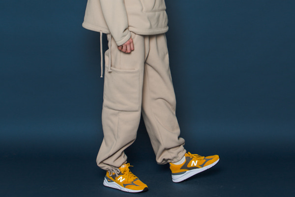 Heavy Fleece Pants (BEIGE)