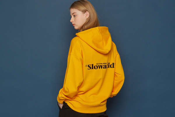 [Sold out]Slowacid Embroidery Hoodie (YELLOW)