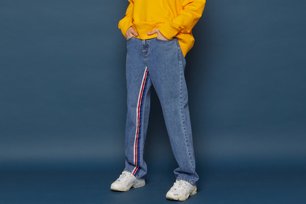 Sideline Denim Pants (BLUE)