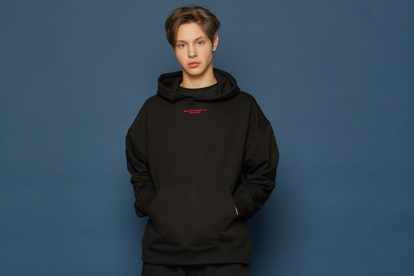 [Sold out]Slowacid Embroidery Hoodie (BLACK)