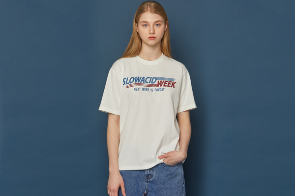 SLOWACIDWEEK Short-T (WHITE)