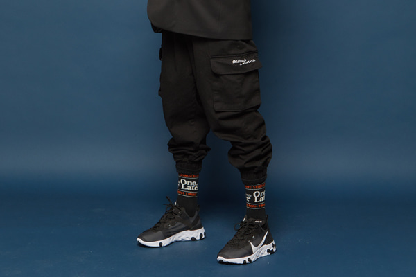 Spancotton Cargo Jogger Pants (BLACK)