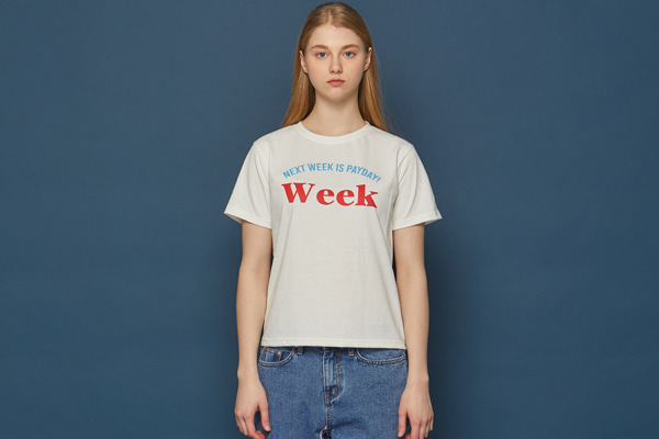 WEEK WMNS Short-T (WHITE)
