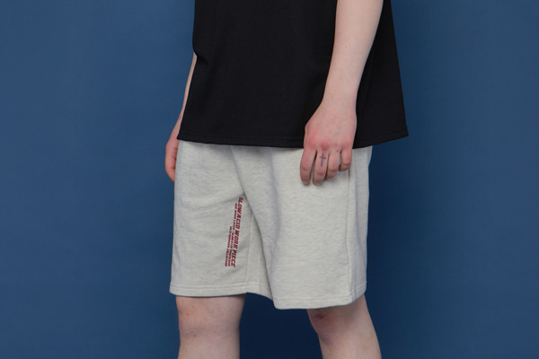 [Sold out]INSEAM Lettering Half Pants (OATMEAL)