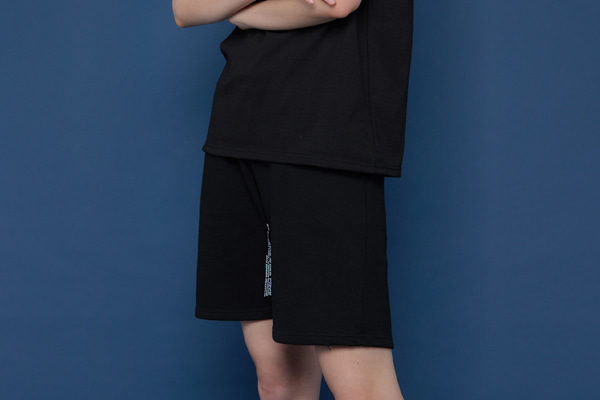 [Sold out]INSEAM Lettering Half Pants (BLACK)