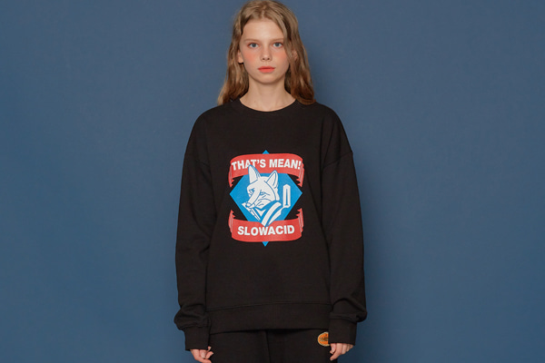 Fox Logo Sweatshirt (BLACK)