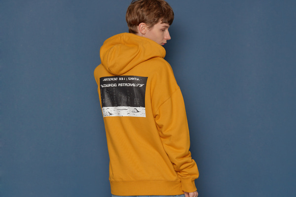 Night scene Hood Zip-up (YELLOW)