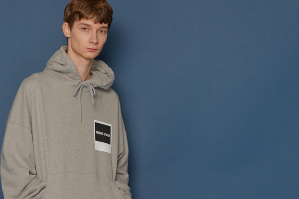 Turnover Oversized Hoodie (GREY)